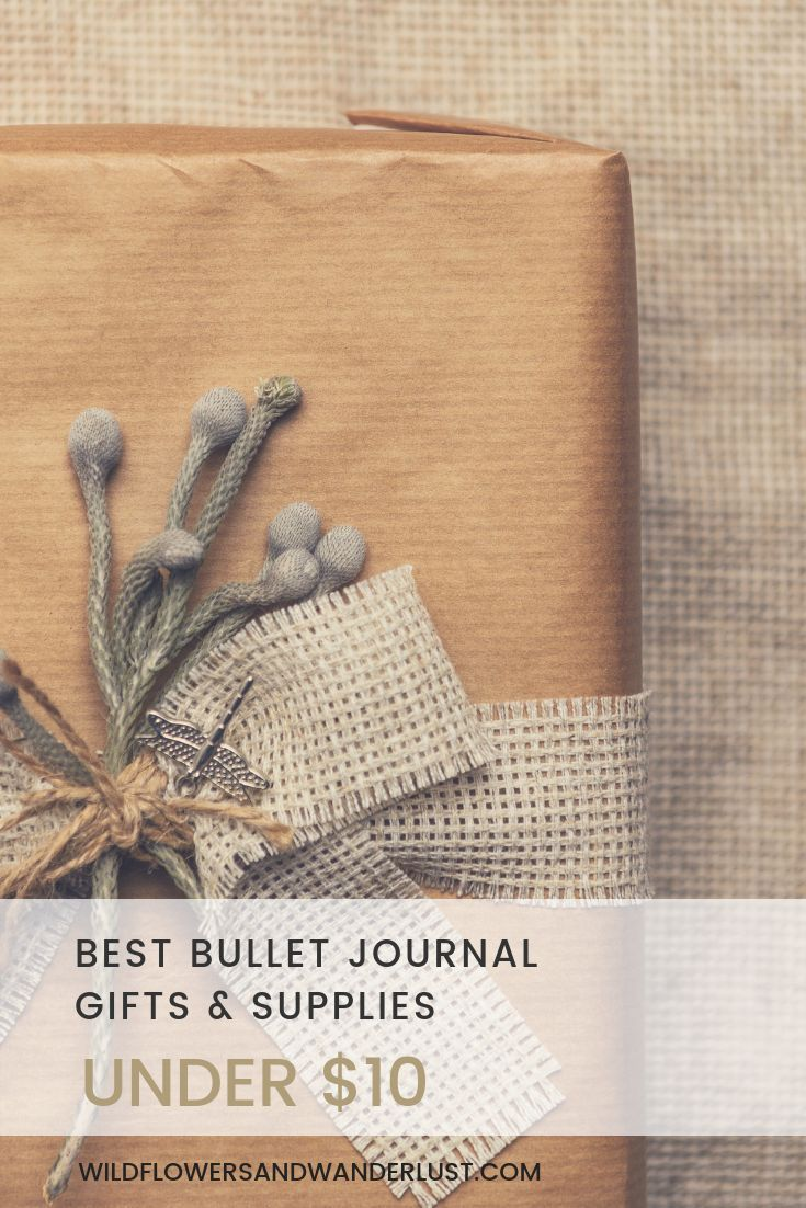 Here's a great resource of bullet journal gifts under $10 that will be perfect for your friends (or yourself, we won't tell) | WildlfowersAndWanderlust.com