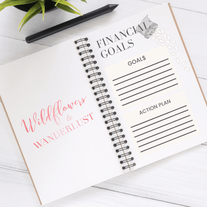 Set Financial Goals using a budget tracker in your bullet journal | WildflowersandWanderlust.com