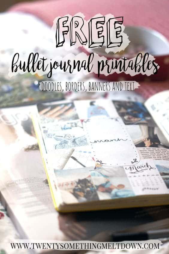 Bullet Journal Embellishments
