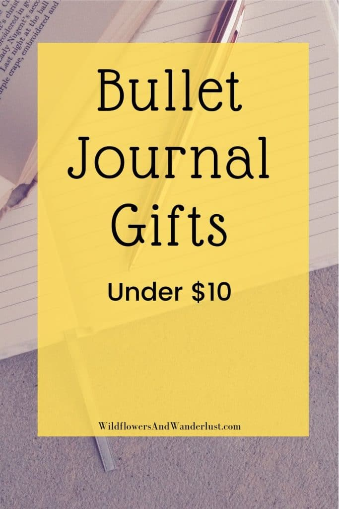 Bullet journal gifts for everyone on your list and all the things that you need for yourself too! WildflowersAndWanderlust.com