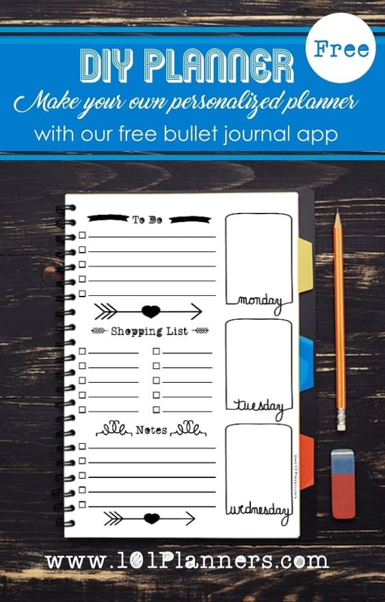 Customized Bullet Journal Printable