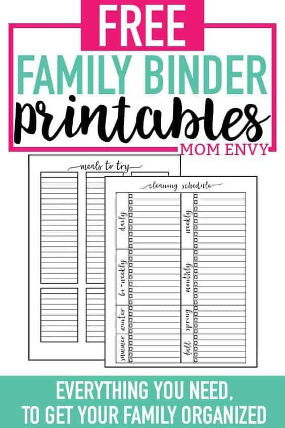 Home Organization Printable