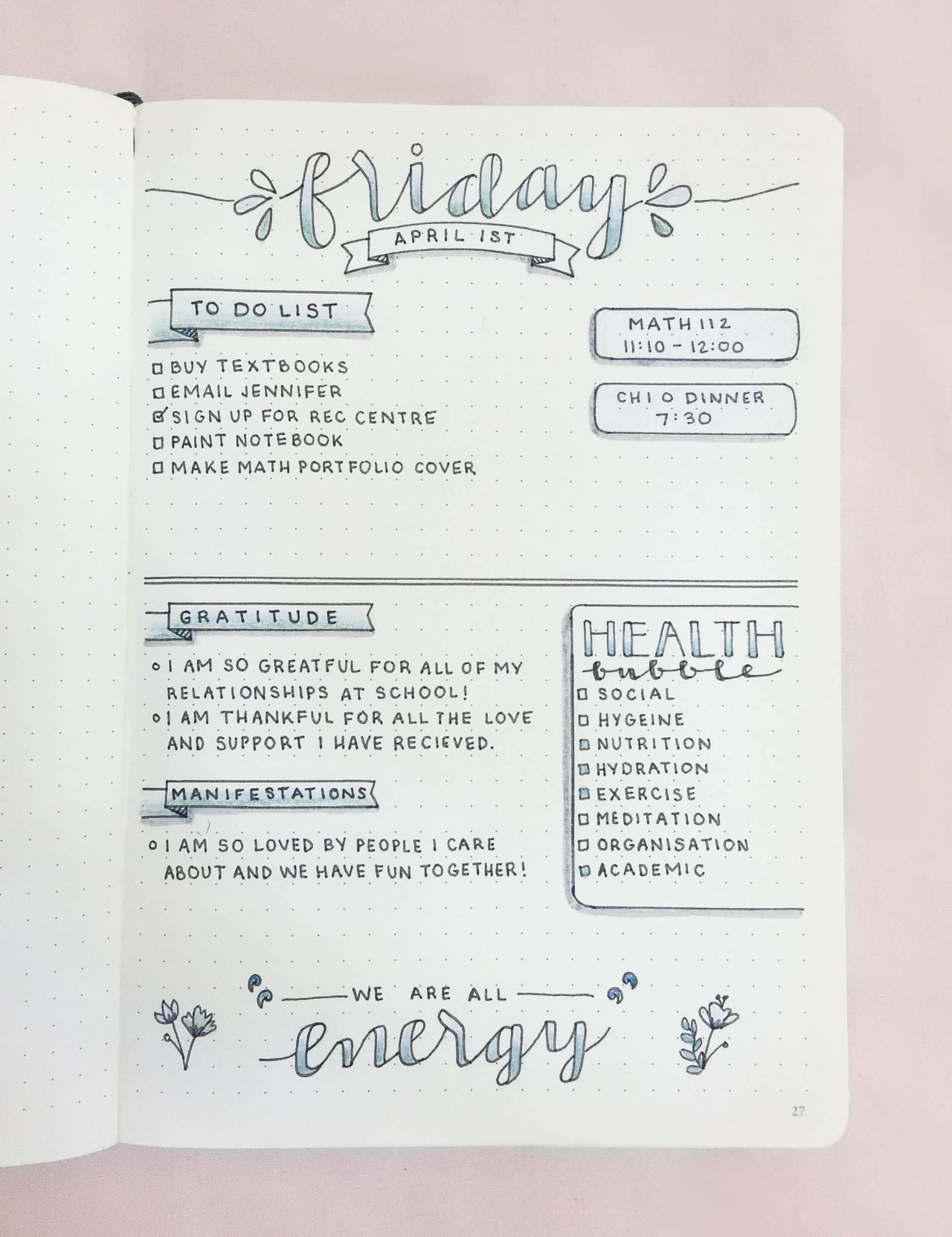 Bullet Journal Daily Log | WildflowersandWanderlust.com