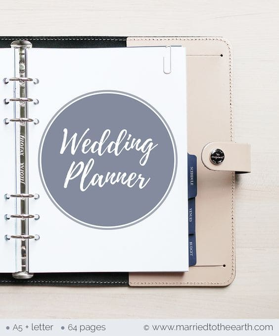 This is an image of Free Printable Wedding Planner Book intended for printout