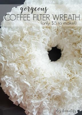 Coffee Filter Wreath by DIY Beautify