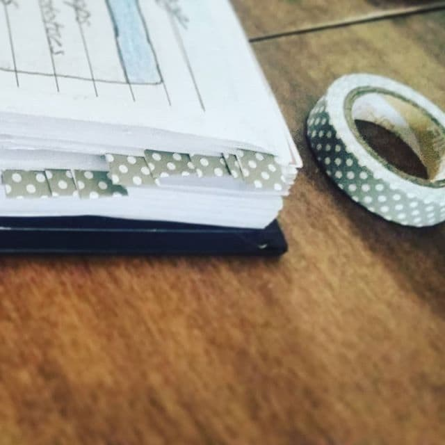 Washi Tape Tabs by A Mom's Bujo