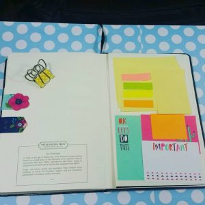 Sticky Notes in a Bullet Journal by @thedallasjournals