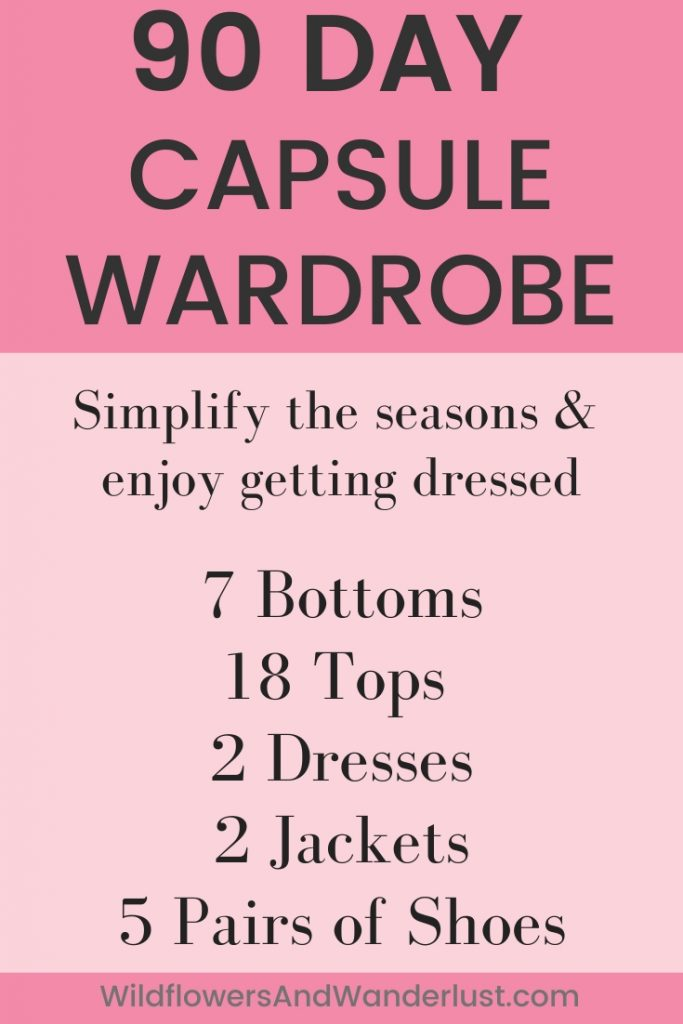 For a new capsule wardrobe using 34 items as the base is a great plan.  WildflowersAndWanderlust.com