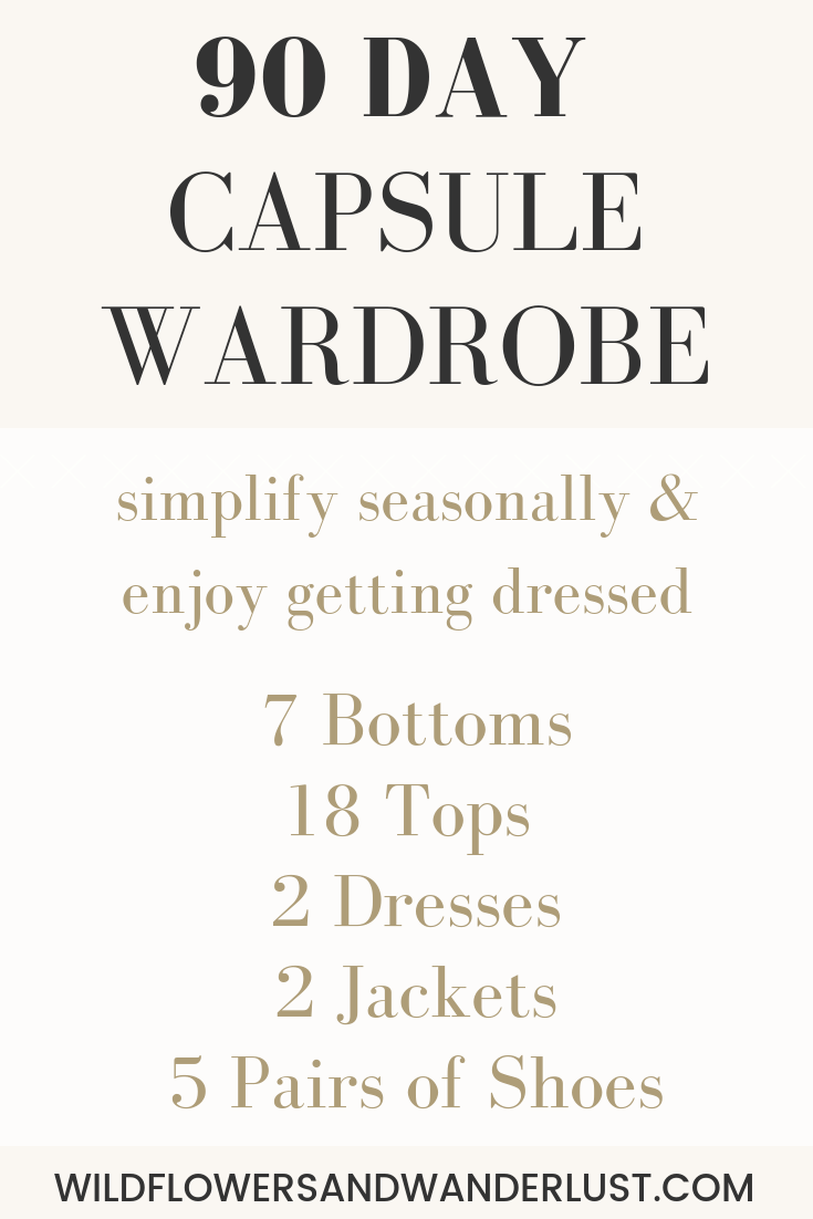 Capsule Wardrobe Items | WildflowersandWanderlust.com