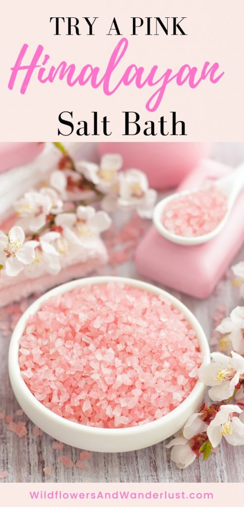 Not only will a salt bath relax you but it's got lots of other benefits as well WildflowersAndWanderlust.com