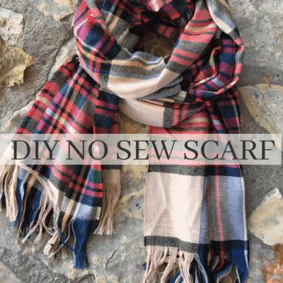 How to Make a No Sew Blanket Scarf Quickly