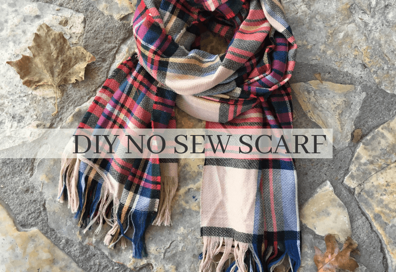 How To Make A No Sew Blanket Scarf Quickly Wildflowers And