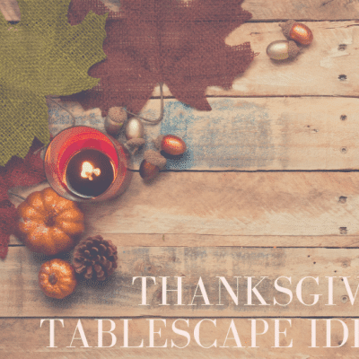 Tablescape for Thanksgiving Ideas