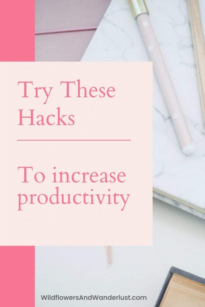 The best list of bujo hacks that you'll find. All kinds of tips to explode your productivity with your bullet journal WildflowersAndWanderlust.com
