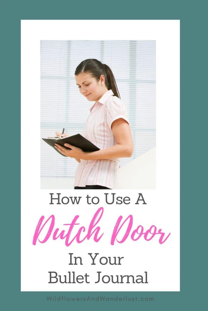Cutting out an area of your journal creates a dutch door effect and can make your calendar much easier to use WildflowersAndWanderlust.com