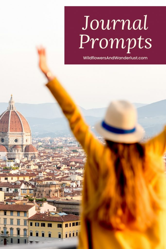 Travel prompts for your journal to keep you inspired and writing WildflowersAndWanderlust.com