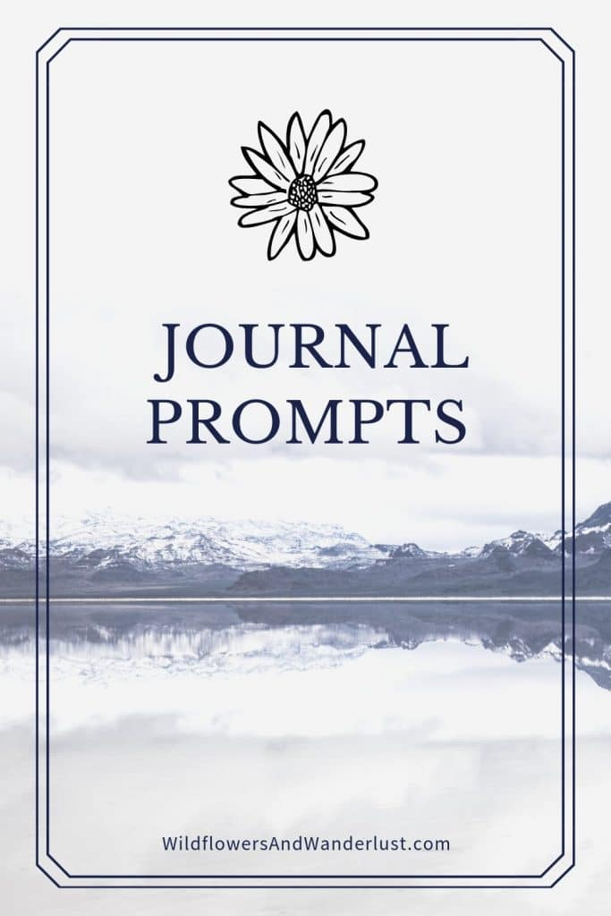 Here's a great list of journal writing prompts to get you inspired and creative.  You'll find enough prompts to keep you going for at least a year  WildflowersAndWanderlust.com
