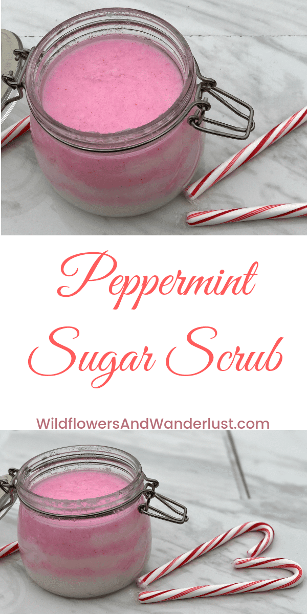 Easy DIY Peppermint Sugar Scrub | WildflowersAndWanderlust.com | Great for Gift Giving