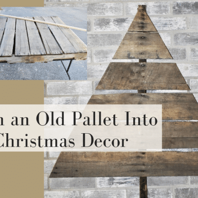 How to Easily Make a Christmas Pallet Tree