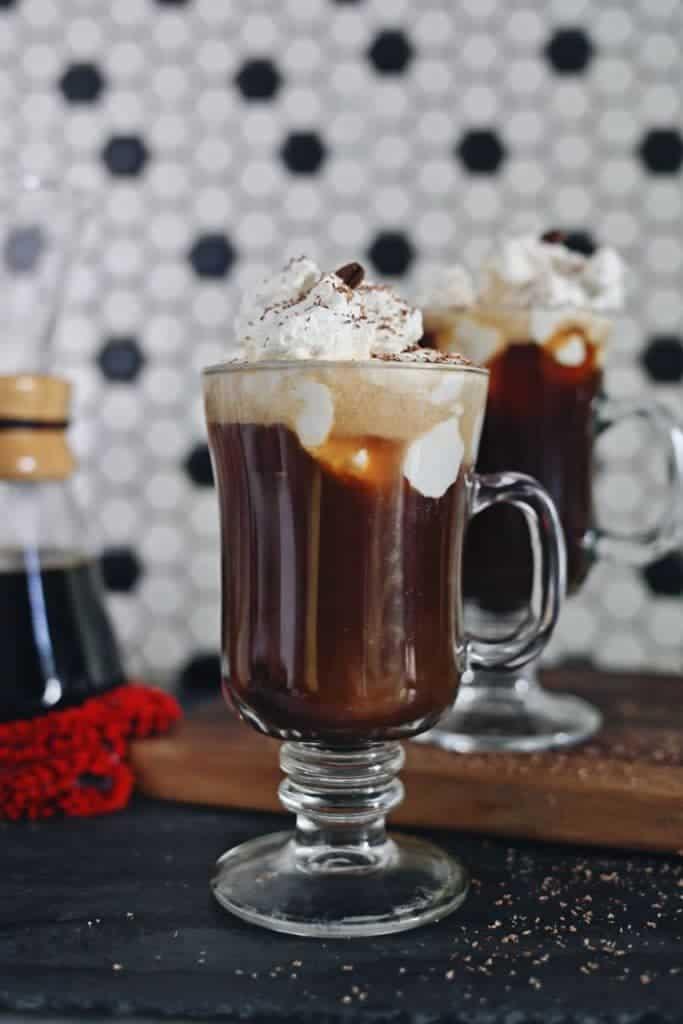 Bourbon Pecan Coffee Cocktail by World Market featured on WildflowersAndWanderlust.com