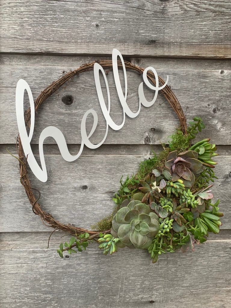 Make This Live Succulent Wreath in less than an hour | WildflowersAndWanderlust.com