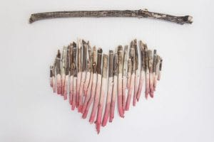 Heart made of tree branches by Shades of Blue Interiors