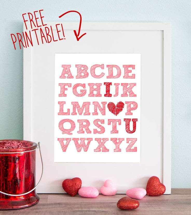 Free Printable by The Craft Patch for Valentine's Day
