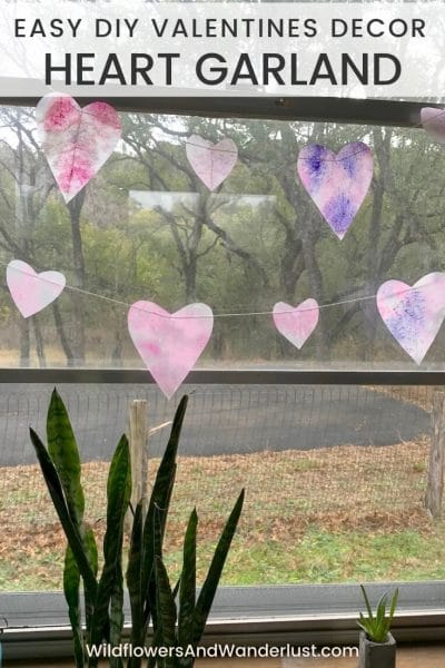 Here's an easy craft garland that you can easily make this afternoon. It's also a great project to make with your kids. WildflowersAndWanderlust.com