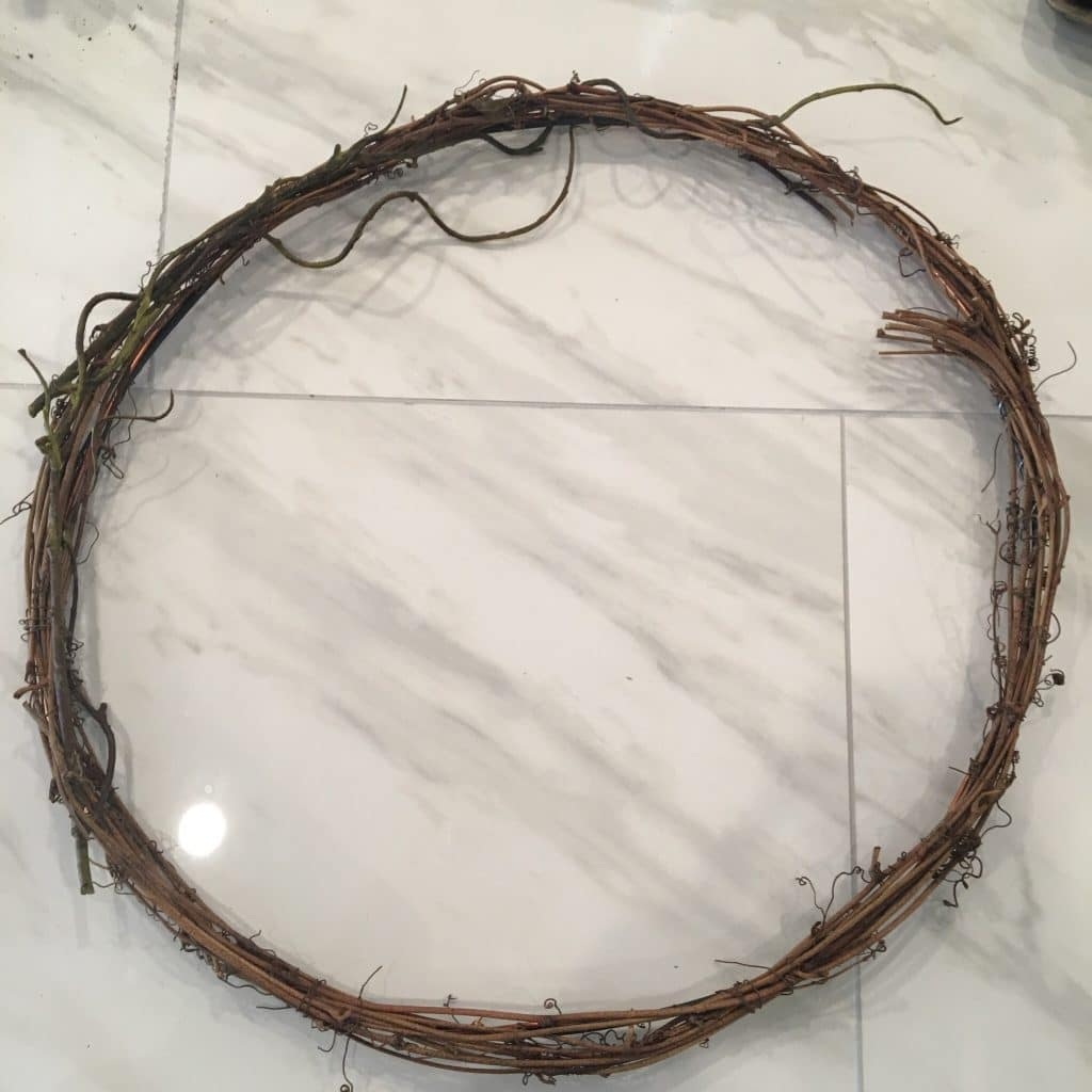 Wire wreath form that we used to attach succulents to | WildflowersAndWanderlust.com