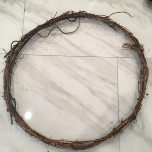 Wire wreath form that we used to attach succulents to   WildflowersAndWanderlust.com