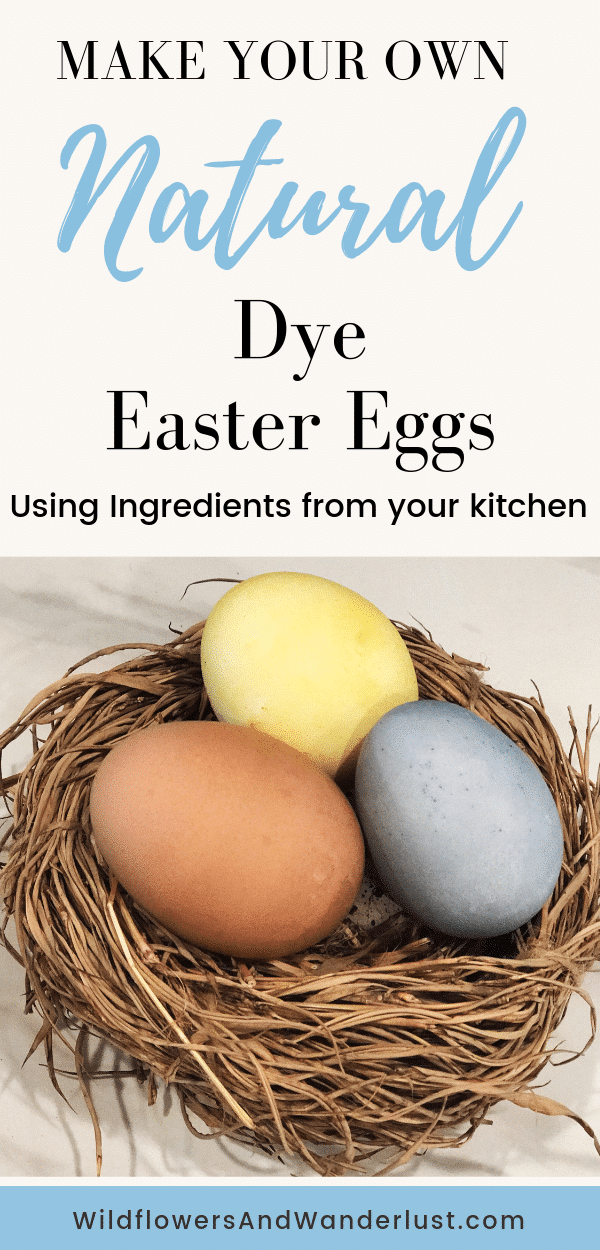 Here are recipes and instructions on how to use all natural dye to make your Easter Eggs this year | WildflowersAndWanderlust.com