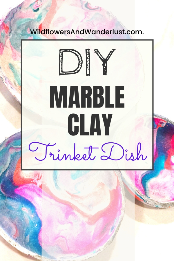 This is a fun and easy to make DIY. Marbled clay makes cute little ring dishes for gifts or yourself. WildflowersAndWanderlust.com