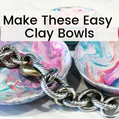 How to Make Cute and Easy Marble Clay Bowls