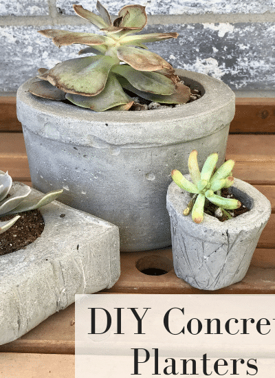 Make your own Succulent planter with this easy DIY concrete planter tutorial | WildlfowersAndWanderlust.com