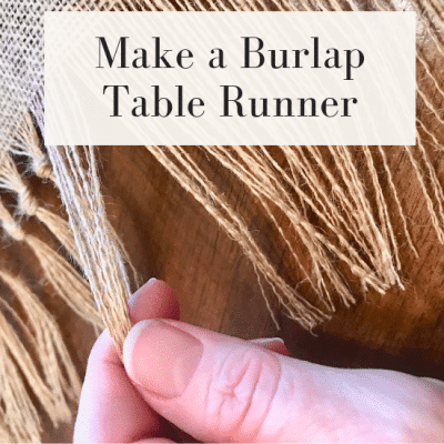 How to Make a Festive Burlap Table Runner
