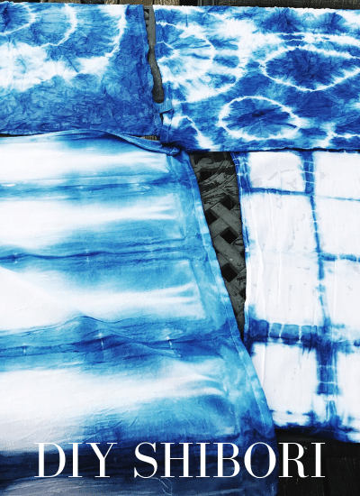 Shibori is a fun weekend project to make some amazing textiles | WildflowersAndWanderlust.com