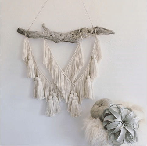 Tassle and Wood Wall Hanging | WildflowersAndWanderlust.com