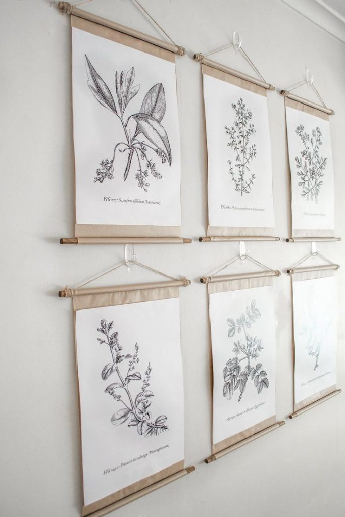 Here's a Tutorial on how to make these cute hanging frames from Temperance Rose as featured on WildflowersAndWanderlust.com