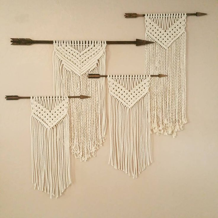 Macrame Wall Hanging on Arrows | WildflowersAndWanderlust.com