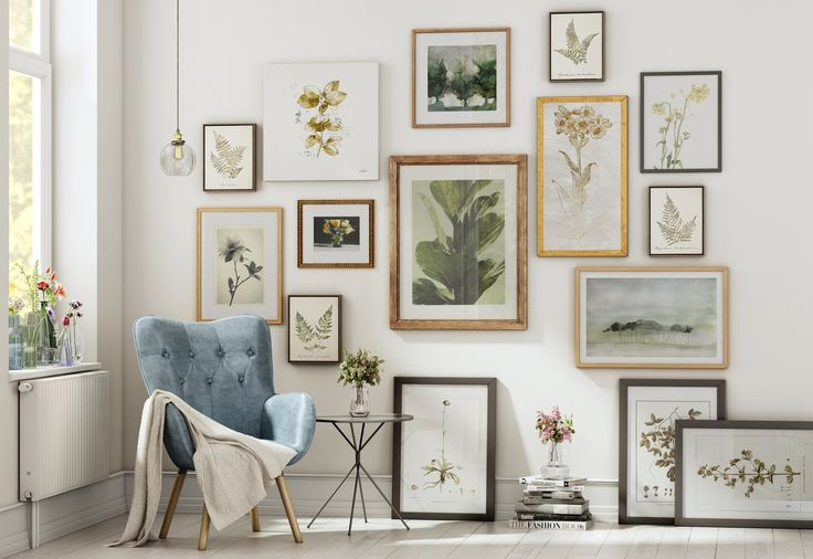 A great gallery wall display by Birch Lane featured on WildflowersAndWanderlust.com