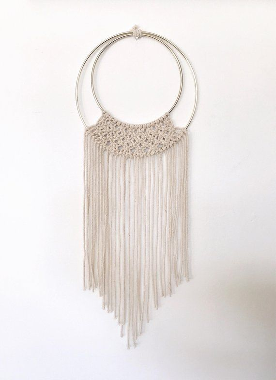 Hoops with Macrame Wall Hanging Inspiration | WildlfowersAndWanderlust.com