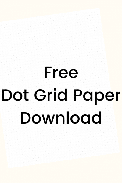 Download Your Free Dot Grid Paper for your Bullet Journal or other project! WildflowersAndWanderlust.com