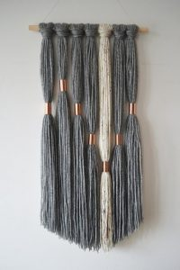 I love this Macrame and Pipe Wall hanging from Etsy | WildflowersAndWanderlust.com