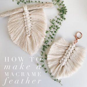 Beautiful macrame feathers and a tutorial | WildflowersAndWanderlust.com