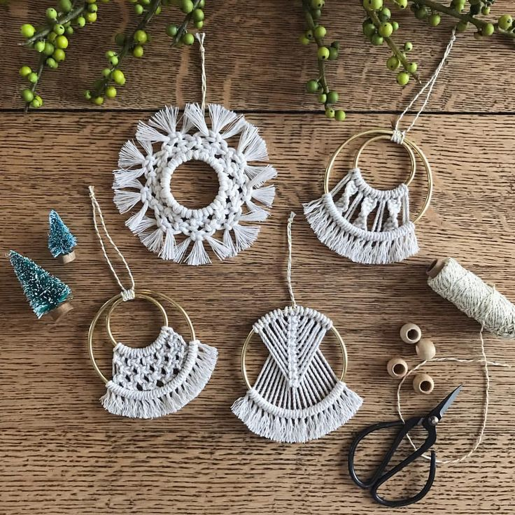 Smaller Size Macrame for Ornaments or Wall Hangings | WildflowersAndWanderlust.com