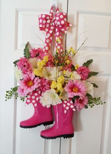 Here's a great way to use those rain boots that you bought and never actually wore | WildflowersAndWanderlust.com