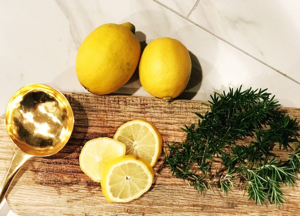 Boil lemon slices with fresh rosemary to give your home a fantastic springtime scent | WildflowersAndWanderlust.com
