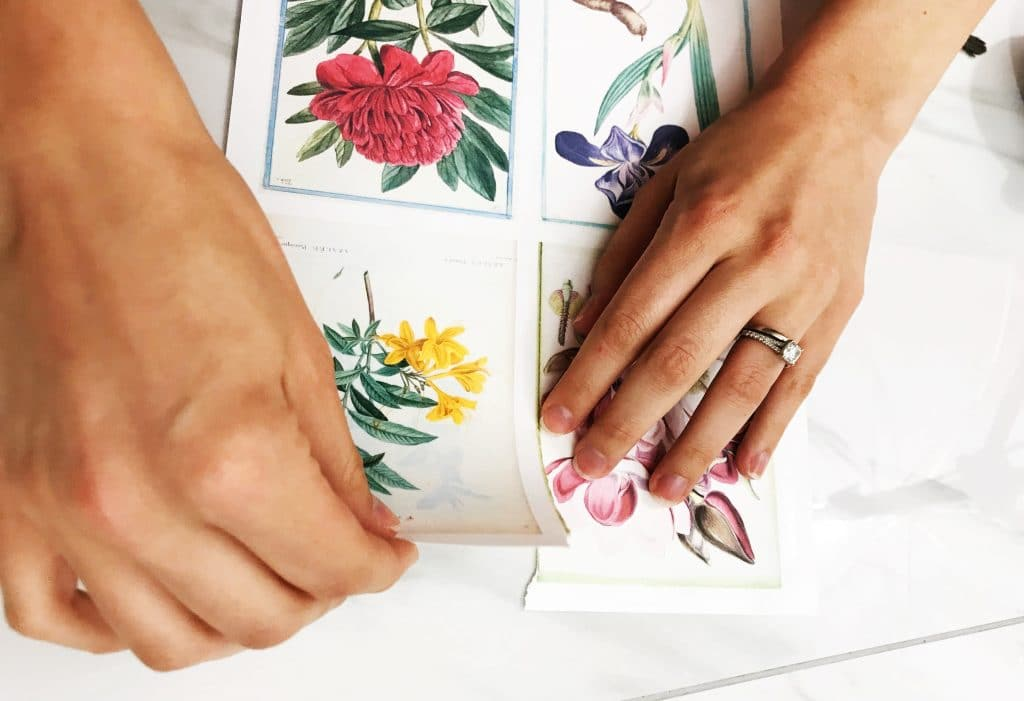 Using a wet edge makes paper tearing much easier | WildflowersAndWanderlust.com