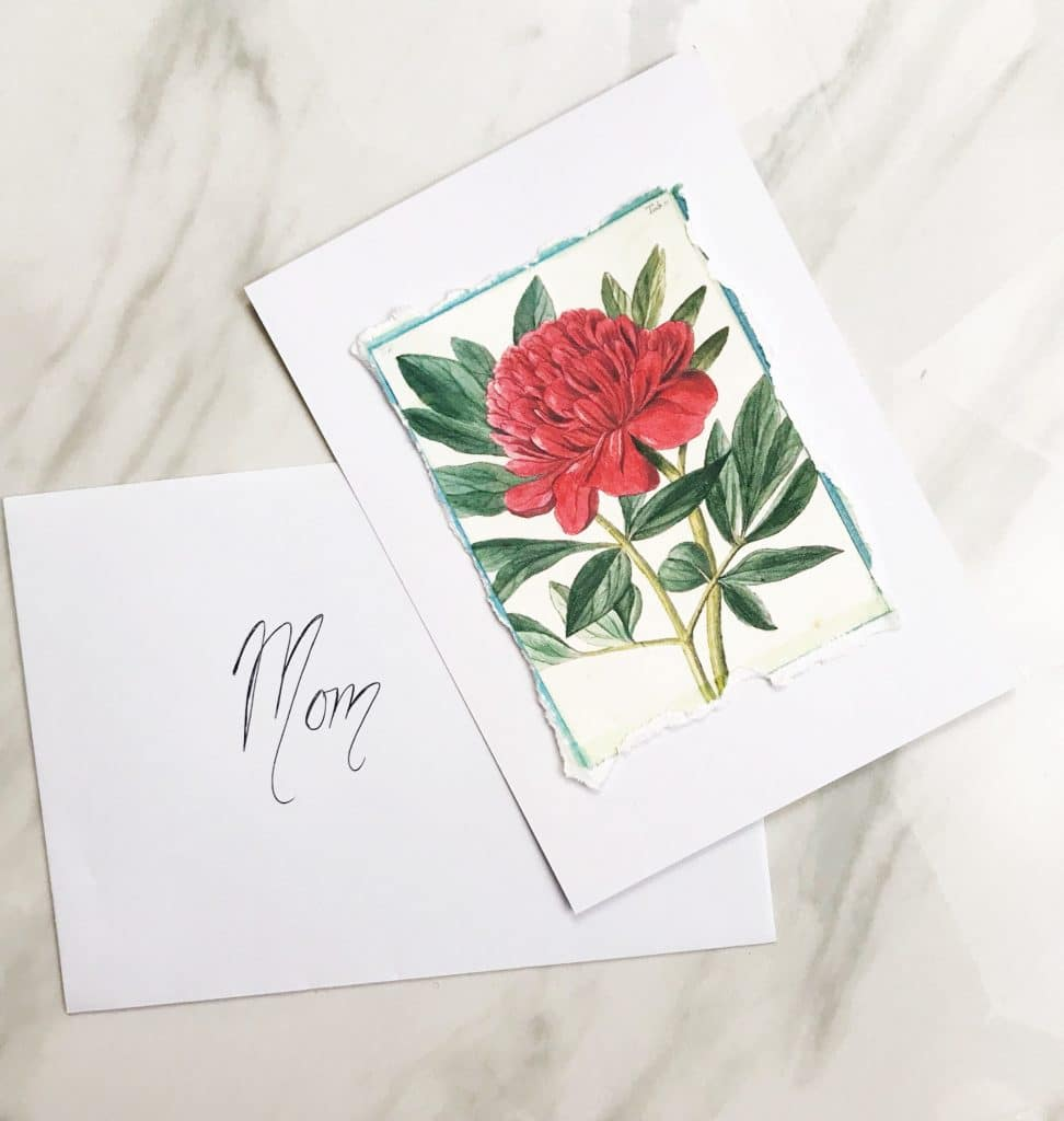 Glue your design onto a piece of cardstock and make a greeting card | WildflowersAndWanderlust.com