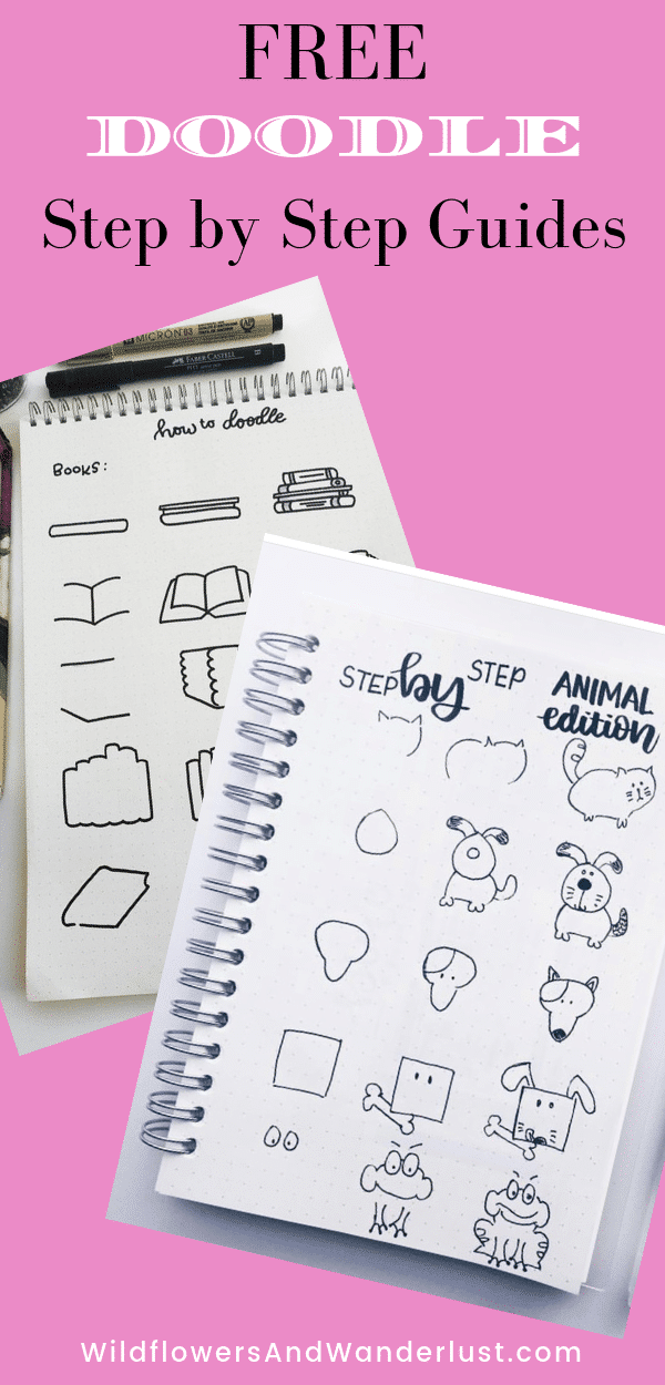 Step by Step Doodles to add to your Bullet Journal | WildflowersAndWanderlust.com